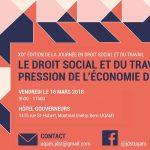 Événement | Le droit social et du travail sous la pression de l'économie de plateforme